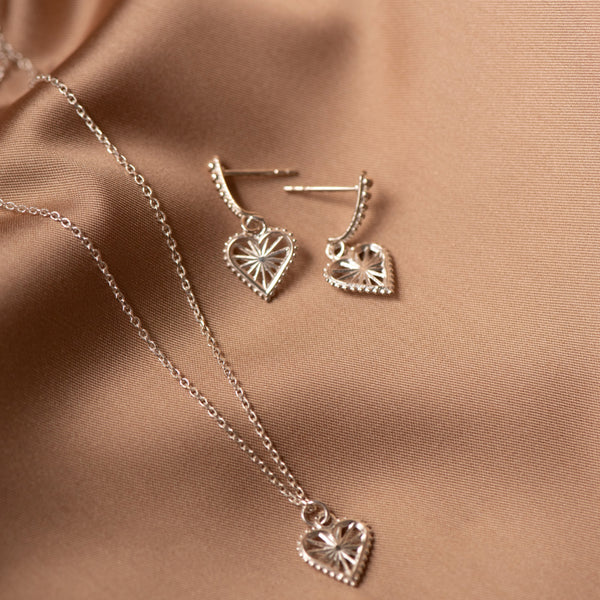 Zoe & Morgan x Walker & Hall Sweet Heart Necklace - Sterling Silver - Walker & Hall