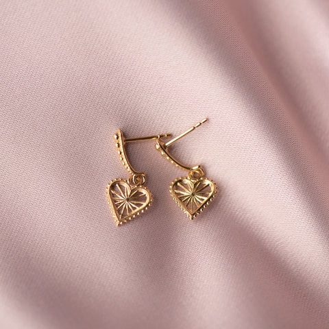 Zoe & Morgan x Walker & Hall Mini Sweet Heart Earrings - Gold Plated - Walker & Hall