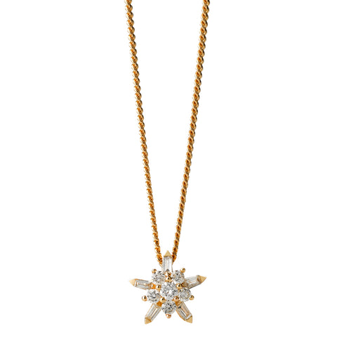 Karen Walker True Love Necklace- 9ct Yellow Gold & White Diamonds - Walker & Hall