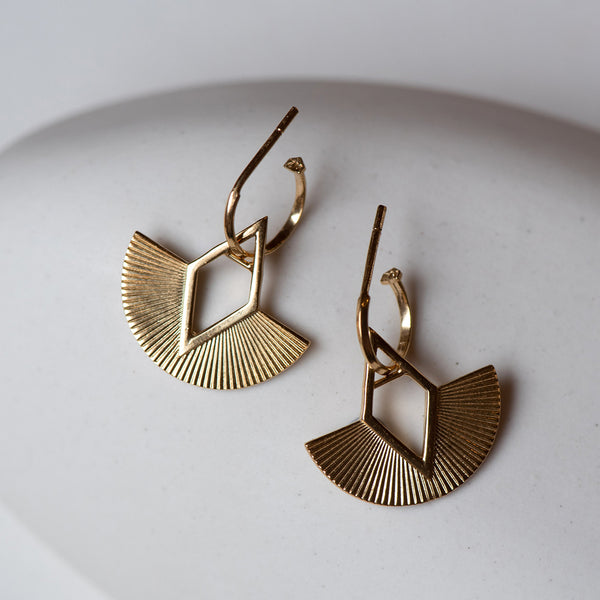 Zoe & Morgan LouLou Earrings - Gold Plated - Walker & Hall