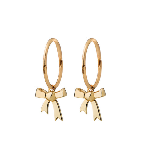 Karen Walker Bow Sleepers - 9ct Yellow Gold - Walker & Hall