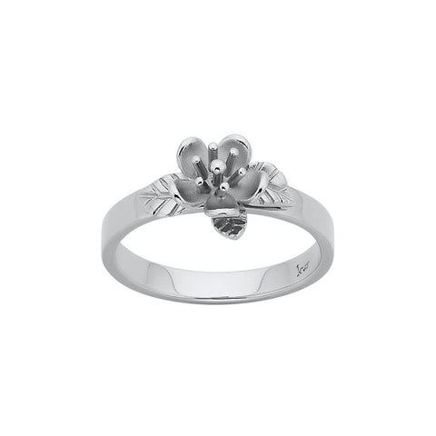 Karen Walker Single Flower Ring - 9ct White Gold - Walker & Hall