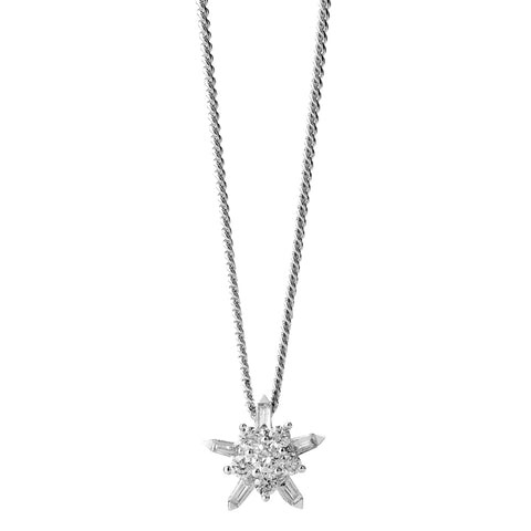 Karen Walker True Love Necklace- 9ct White Gold & White Diamonds - Walker & Hall