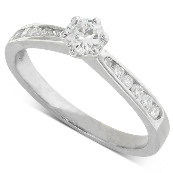 18ct White Gold .30ct Diamond Avalon Ring