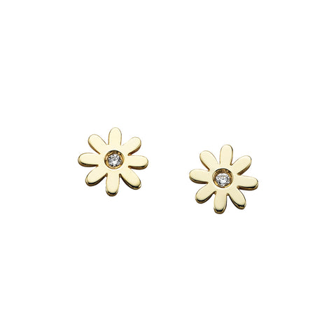 Karen Walker Daisy Stud Earrings - 9ct Yellow Gold - Walker & Hall