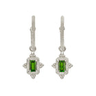 Zoe & Morgan Marina Earrings - Sterling Silver & Chrome Diopside - Walker & Hall