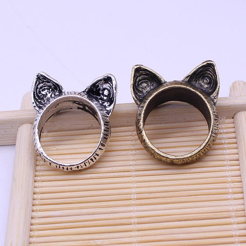 Retro Vintage Cat Ears Finger Ring