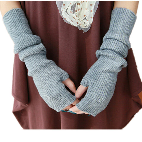 Open Finger Knitted Gloves