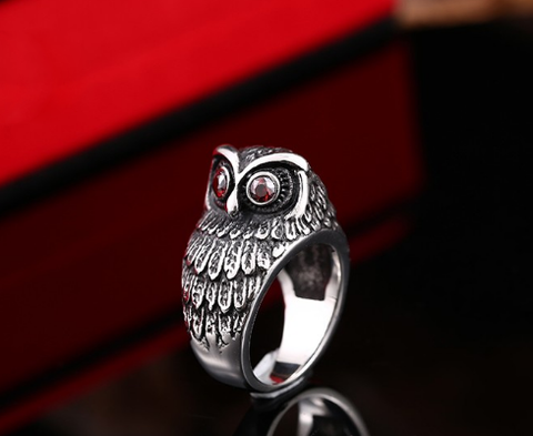 Red Eye Owl Ring