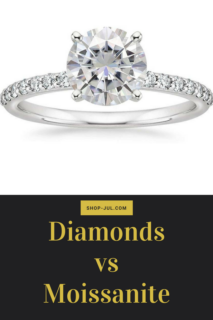Diamonds vs. Moissanite Comparison
