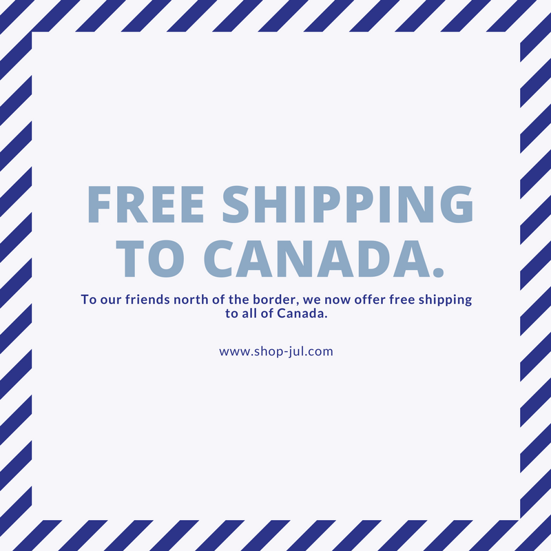 We now offer free shipping to Canada!