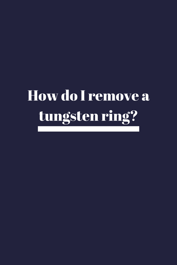 Can a tungsten ring be cut off in an emergency? - Can you cut tungsten wedding bands?