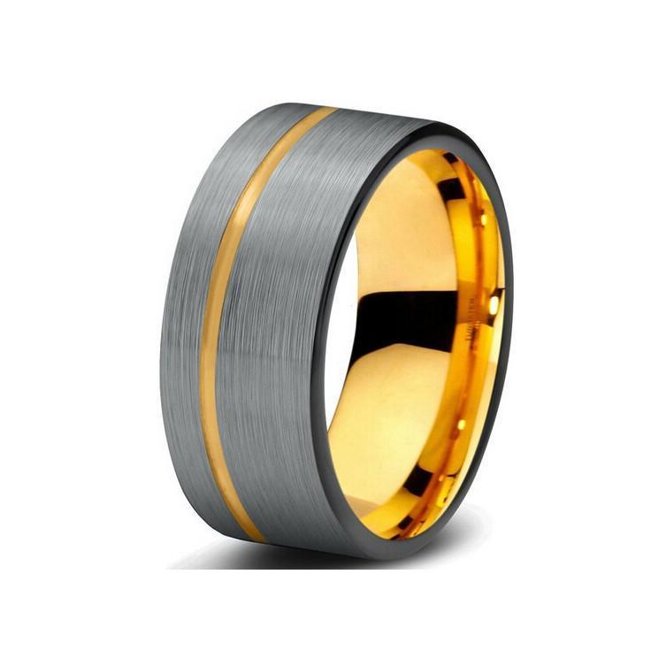 Gold Tungsten Wedding Band Collection - JUL