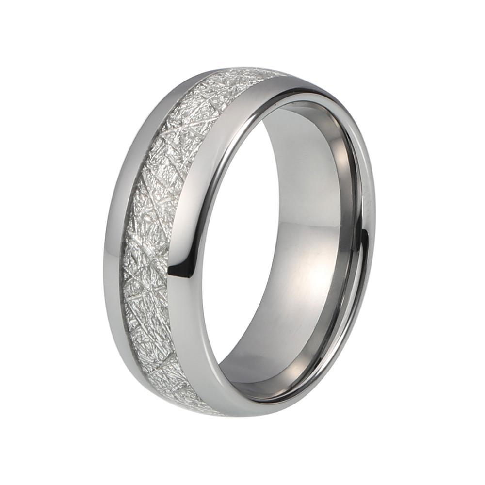 Tungsten Wedding Bands - Meteorite Tungsten Wedding Band