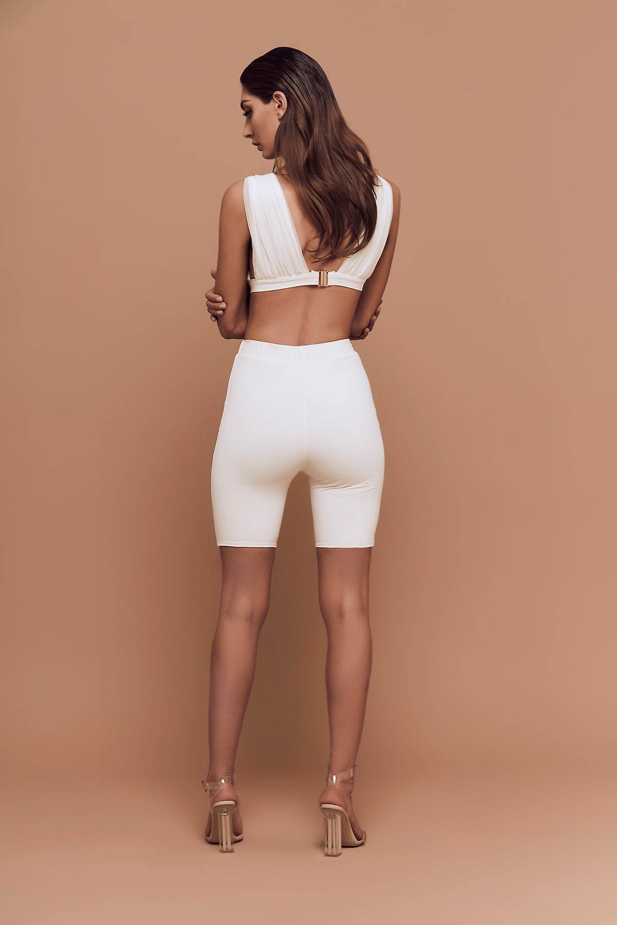 Cali Bike Shorts (white) zoomed