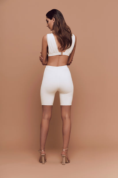 Cali Bike Shorts (white)
