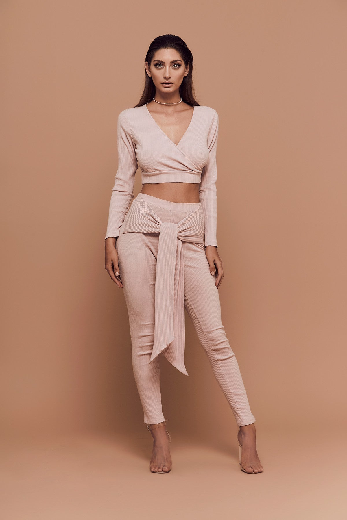 Vibes Leggings (Dusty Pink) zoomed