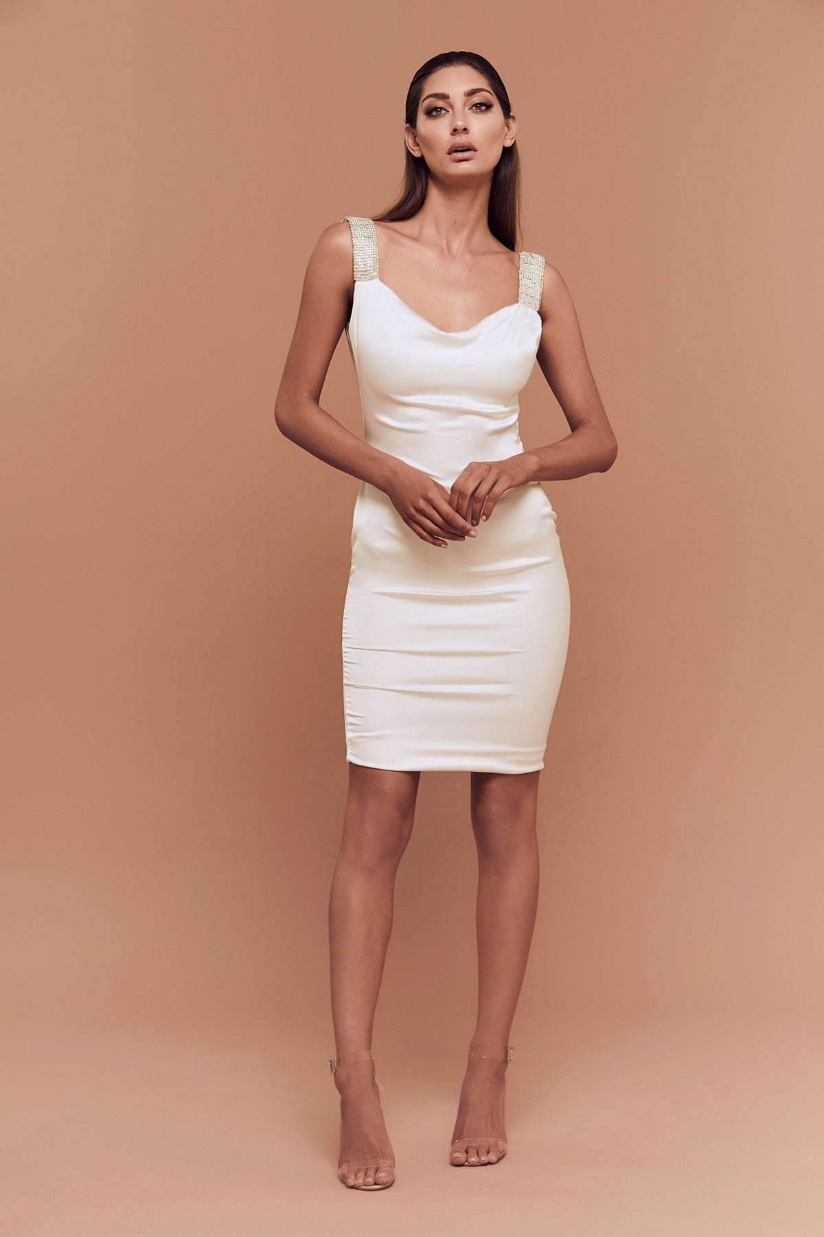Kimberly Dress (White) zoomed
