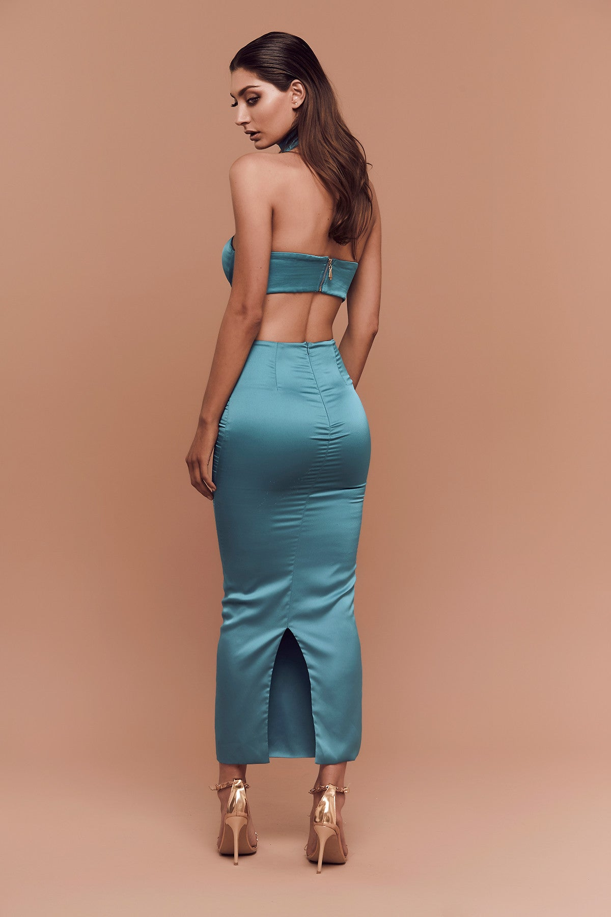 Lily Bandeau (Turquoise) zoomed