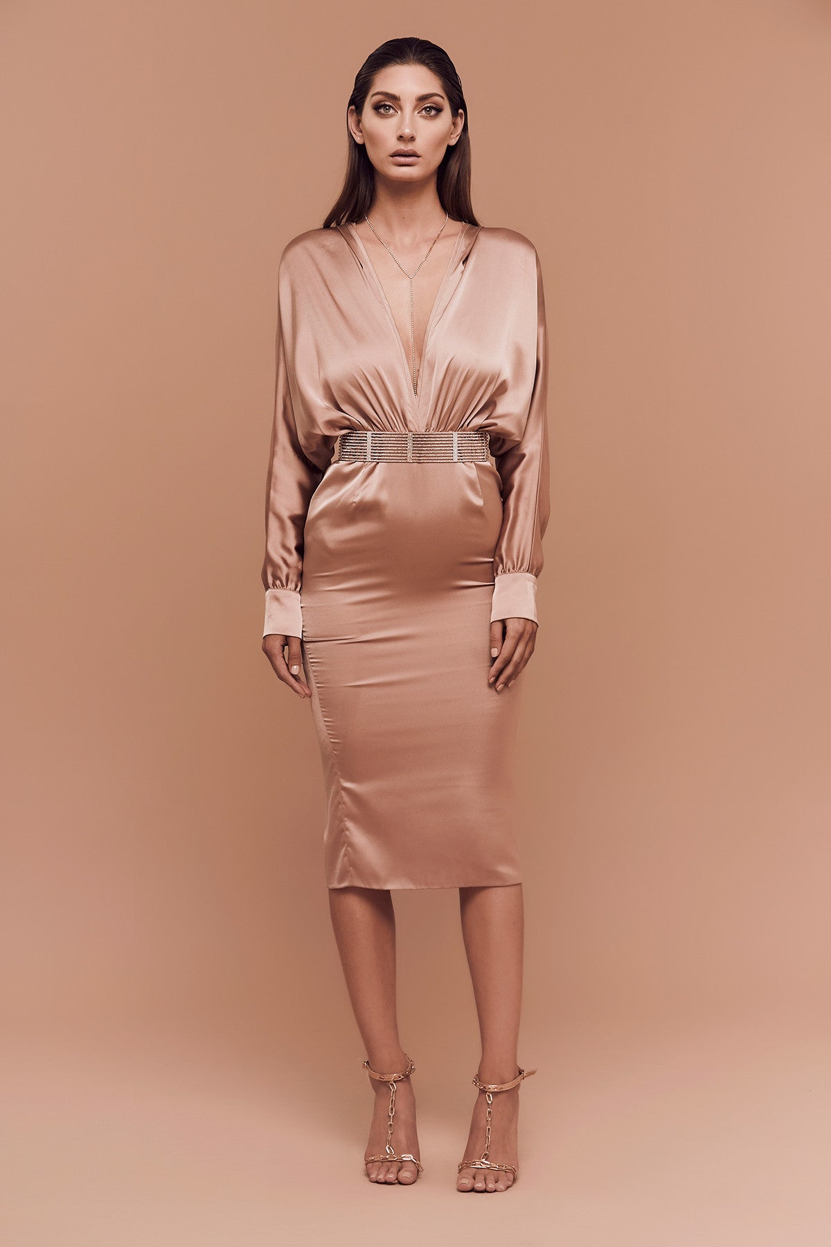 Gigi Dress (bronze) zoomed