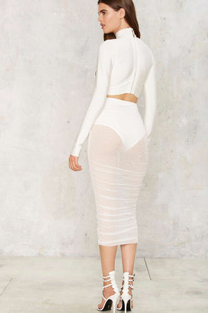 Sheer Mesh Skirt (white)