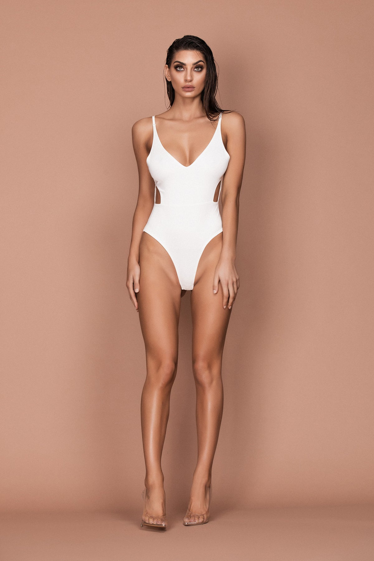 Hush Bodysuit (white) zoomed