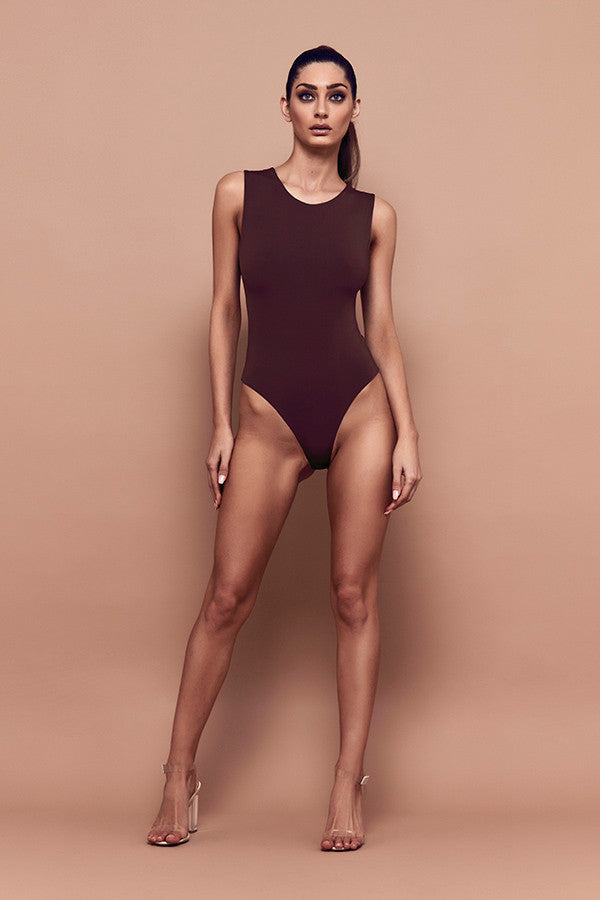 Tempt Bodysuit (chocolate) zoomed