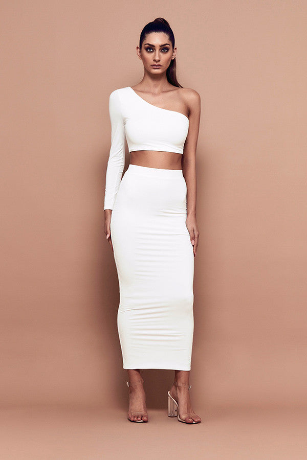 Silhouette Skirt (white) zoomed