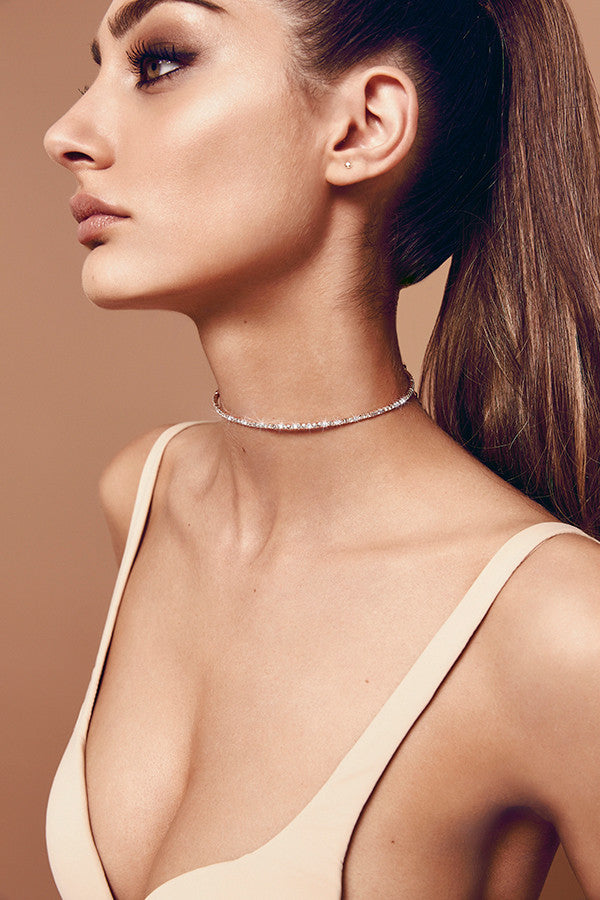 Midnight Choker (rose gold) zoomed