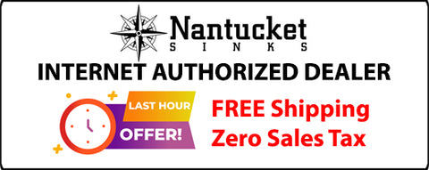 Nantucket Sinks 35.5 Fireclay Rectangular Italian Vessel