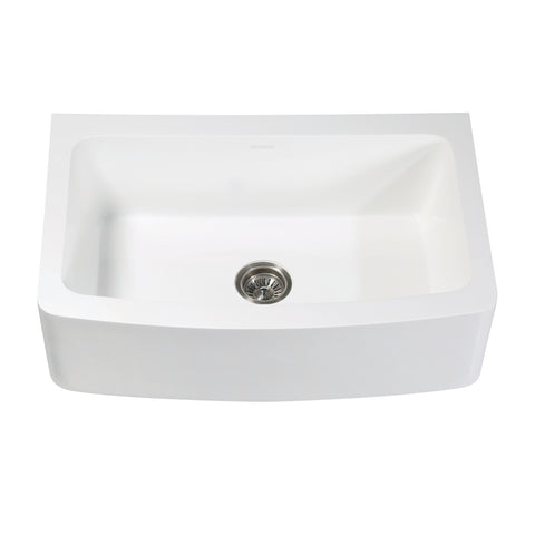 "Arcticstone GKFA33229 Solid Surface 33"" x 22"" Farmhouse Kitchen Sink"