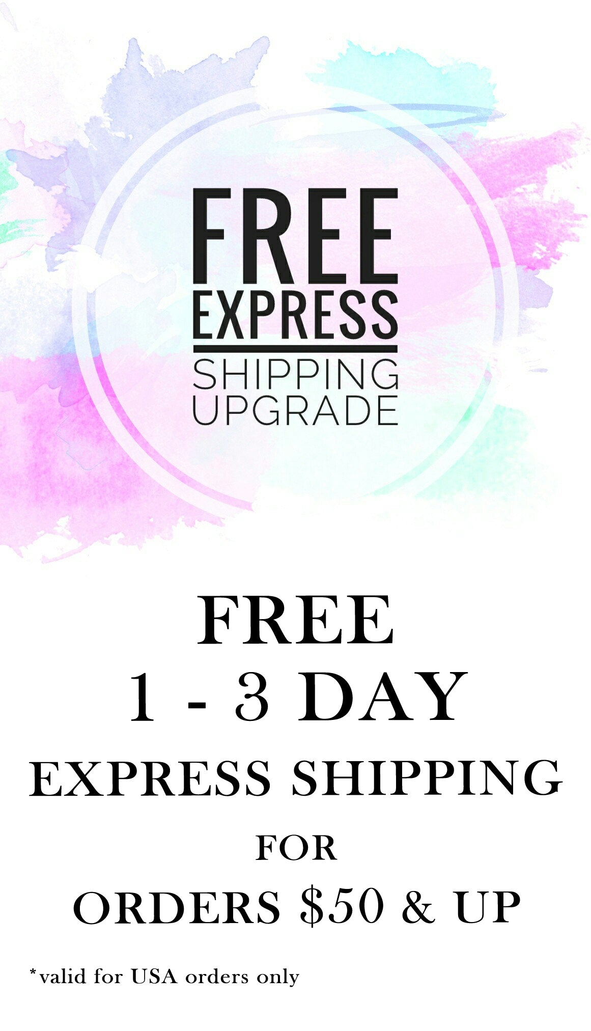 Free upgrade to express shipping