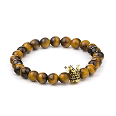 Crown Tiger Eye Bracelet