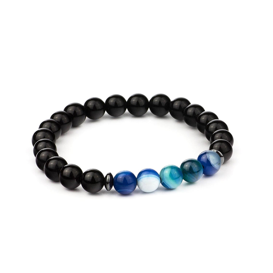Ocean Blue Prayer Agate Bracelet