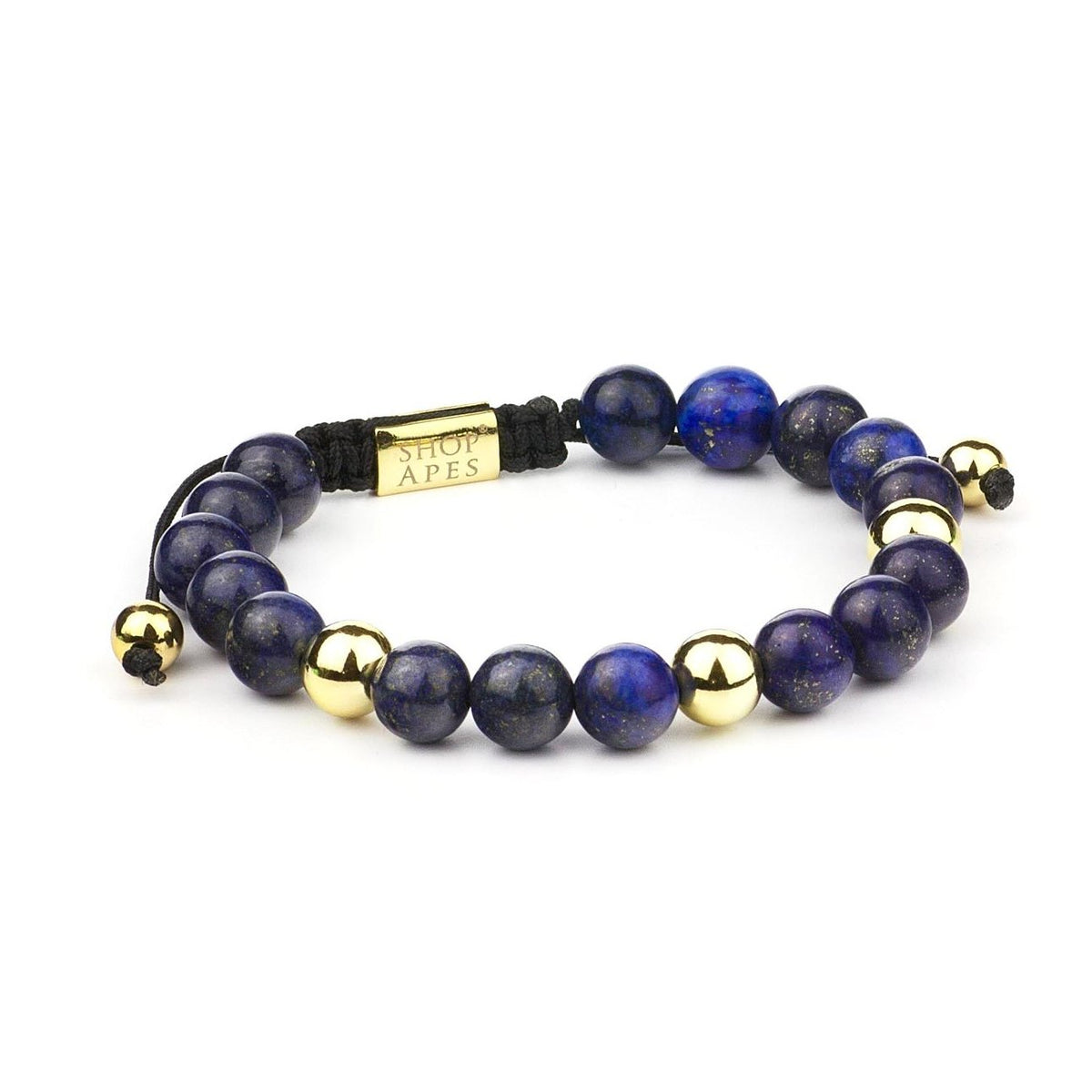 Golden Blue Lapis Bracelet