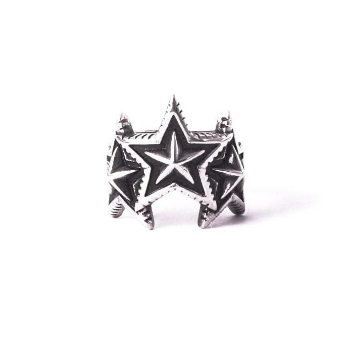 Triple Star 316L Steel Ring