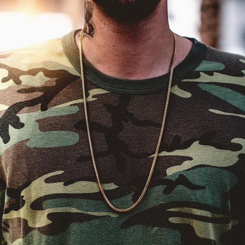 Gold M Chain Necklaces