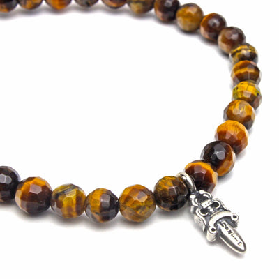 6MM Tiger Eye Sword Bracelet - ShopApes