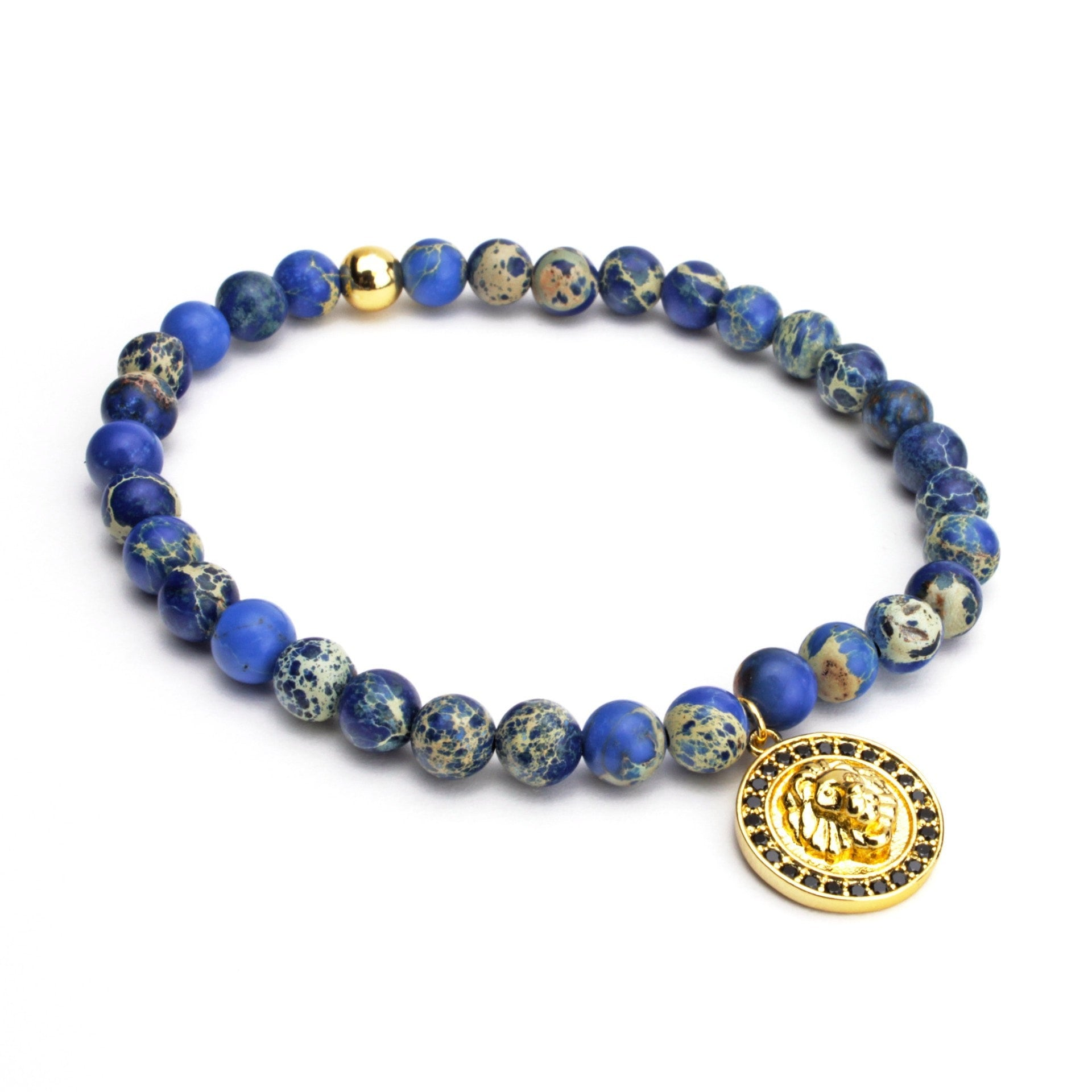 Golden 6mm Lion Emperor Bracelet - ShopApes