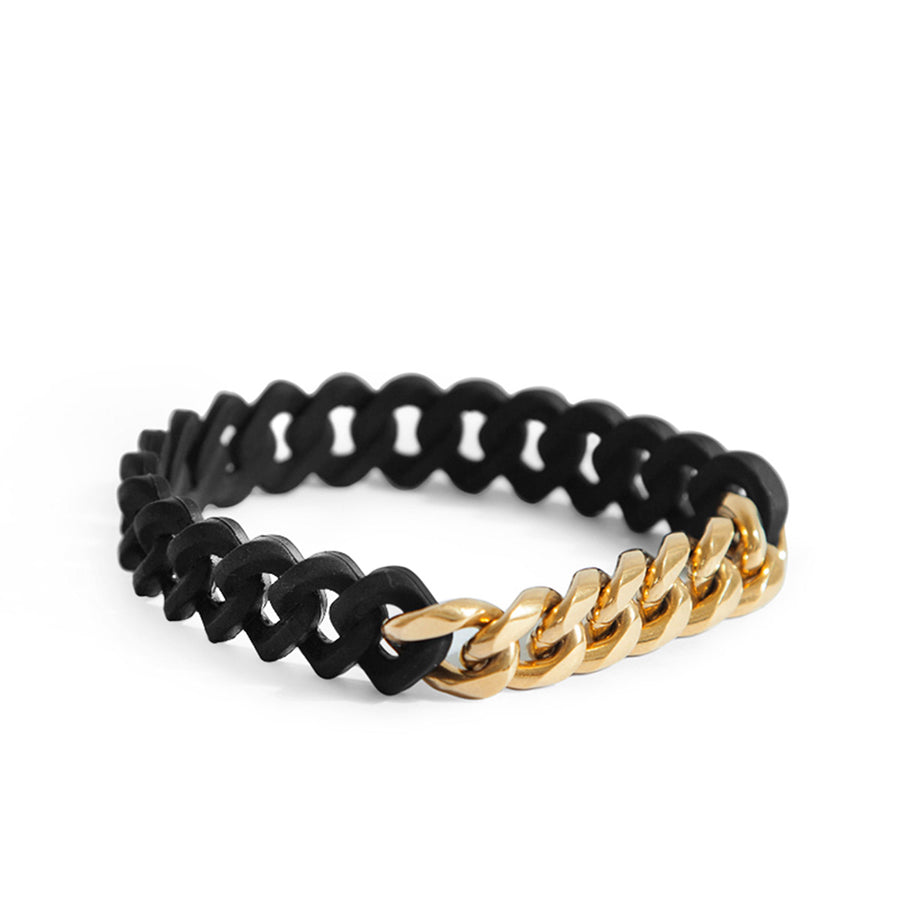 Gold X Rubber Chain Bracelet
