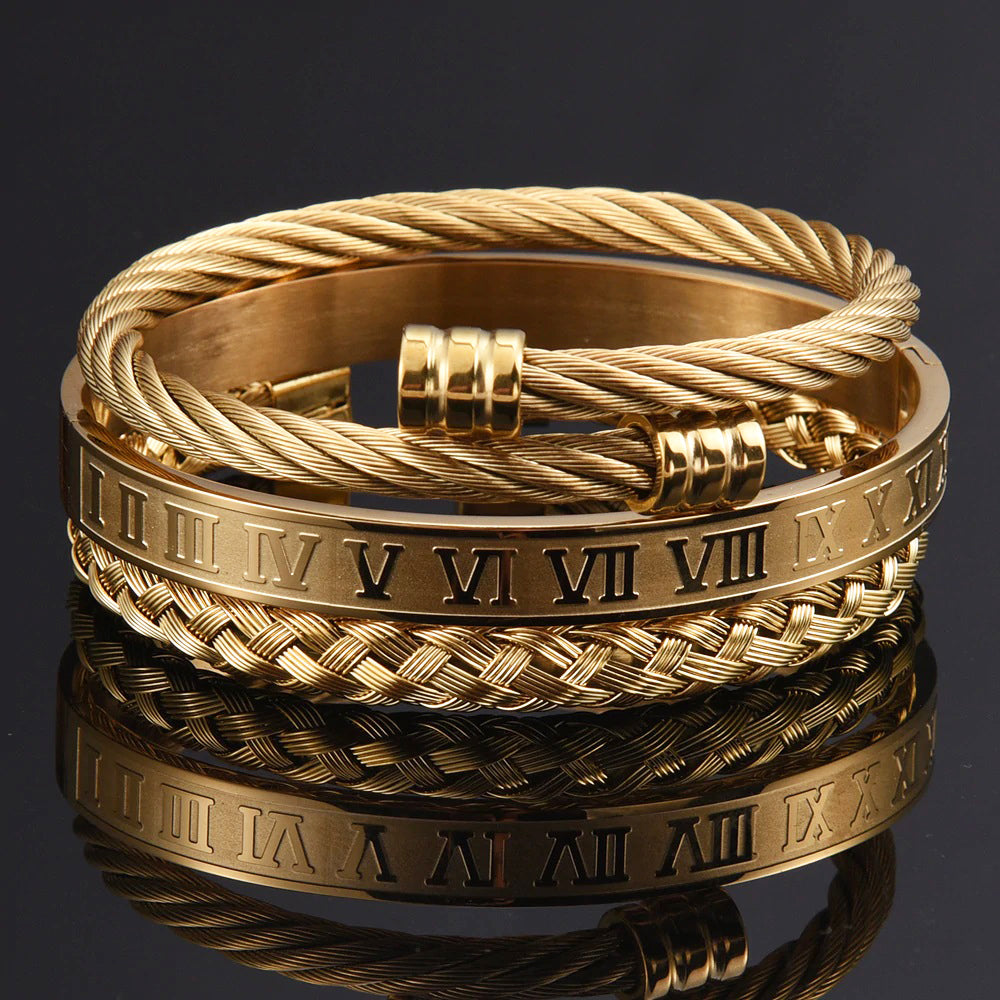 Golden Roman Rope Set