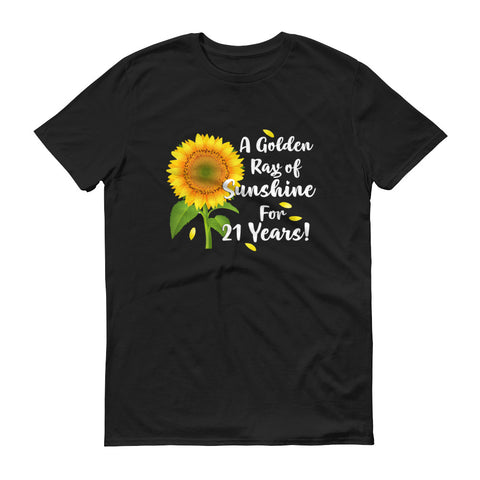 A Golder Ray of Sunshine for 21 Years T-Shirt