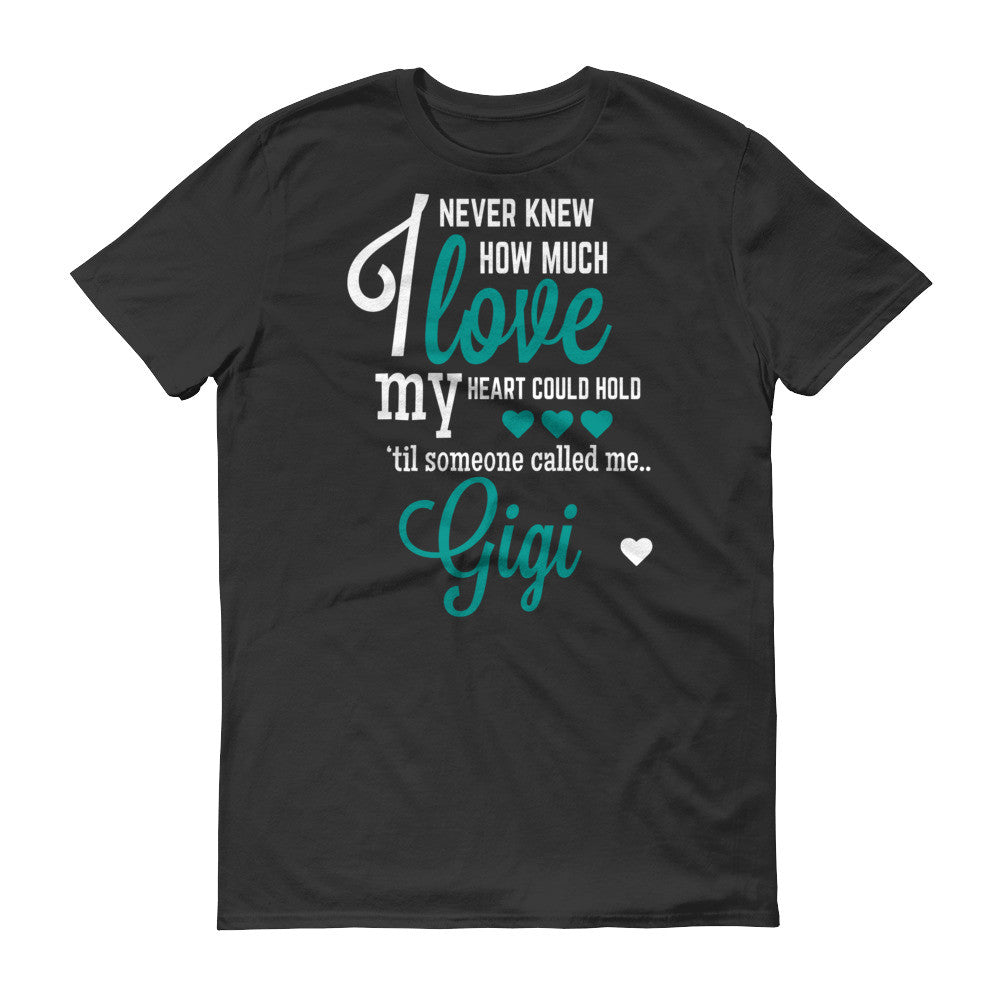 I Never Knew How Much Love My Heart Could Hold 'til Someone Called me Gigi T-Shirt