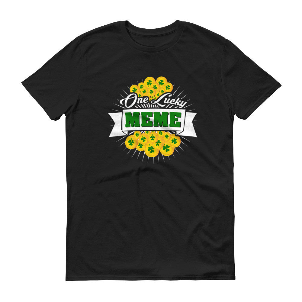 Women's Fit - St Patrick's Day One Lucky Meme T-Shirt