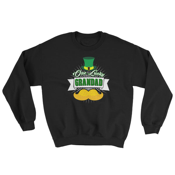 St Patrick's Day One Luck Grandad Sweatshirt