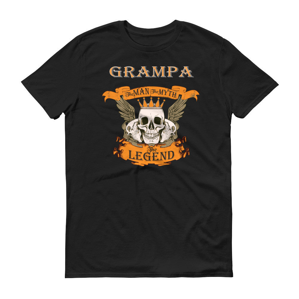 Grampa The Man the Myth the Legend Skull T-Shirt