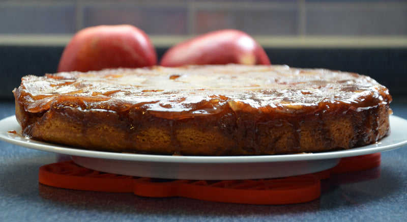 Scrumptious Apple Upside-down Cake