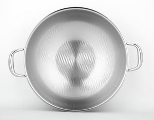 DRESDEN 36cm Tri-ply Stainless Steel Diamond pattern Wok