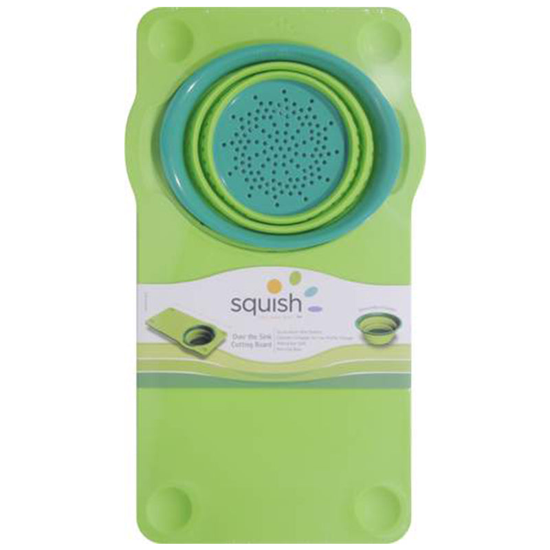 Squish™ Over the Sink Colander and Cutting Board