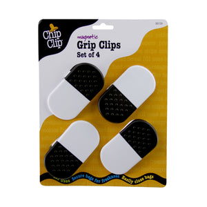 Chip Clip® Magnetic Black & White Clips Set of 4